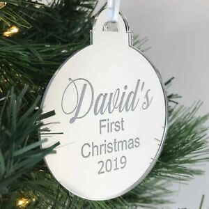 Personalised Christmas Tree Decorations - Bauble