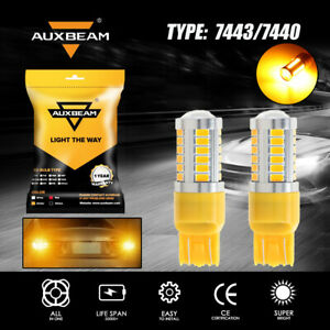 AUXBEAM LED Rear Turn Signal Blinker Light Bulb 7440 7441 7443 7444 Amber Yellow