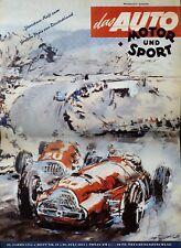 Poster Auto Motor und Sport 16/51 28.7.51 1951 Replica Monoposto Rennwagen