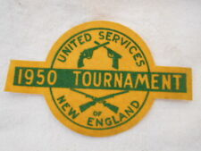 1950 TOURNAMENT OF NEW ENGLAND USED COMPANY  SEW ON NAME PATCH TAG