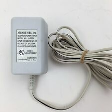 Atlinks AC Adapter Power Supply   9VDC    200mA       Model  5-2526  (Used)