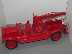 Vintage KEYSTONE Packard Fire Engine Wrecker Wrecking Truck Restored RARE Boston