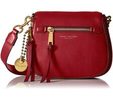 NWT $450 Marc Jacobs Recruit Saddle Crossbody Bag Ruby Rose Red