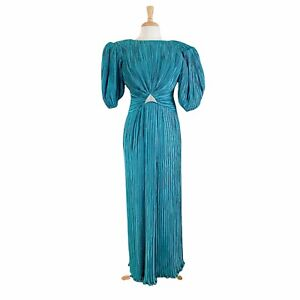 Lillie Rubin George F. Couture New York Vintage 80s Dress Ball Gown Size 12