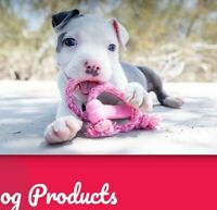 KONG Goodie Bone on Rope, X Small, Puppy, NEW, Pink, Natural Teething Rubber