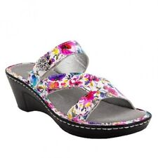 e15d57a5ca8 Alegria Loti Perennial Wedge Sandals Shoes 41 US 11 Floral Leather w Jewel  NEW