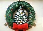 RARE Trim 'n Glo Lighted Christmas Tree Wreath, Marcia Ceramics in Original Box