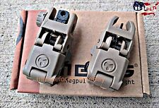 Flat Dark Earth Magpul PTS MBUS Gen1 Style Backup Front & Rear Flip Up Sight