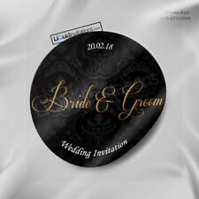 Personalised Wedding Stickers gift Invitation Envelope Seal Favours