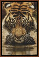 DRINKING cross stitch pattern PDF (point de croix) [tiger]