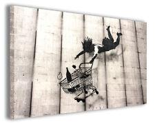 Quadri famosi Banksy I stampe riproduzioni su tela copia falso d'autore