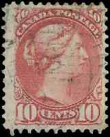 Canada #45 used F 1897 Queen Victoria 10c brown red Small Queen CV$40.00