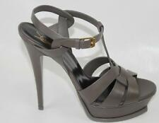 AUTH $895 YSL Saint Laurent Tribute Patent Leather Platform Sandal 39