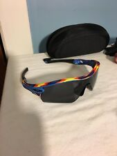 Oakley Rare Distressed Blue Radar Sunglasses Displayed Only