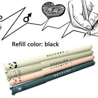 Cartoon erasable and easy to wipe gel pen 0.35mm plastic signing statio I7W3