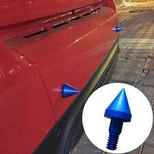 2 Pcs Car Bumper Blue Aluminium Protection Spikes Anti-Collision Sharp Guard NEW