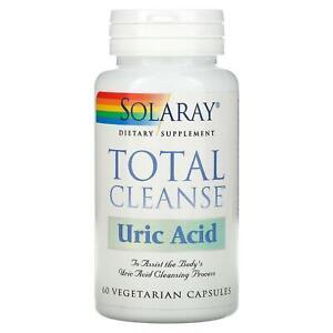 Solaray, Total Cleanse, Uric Acid, 60 Vegetarian Capsules