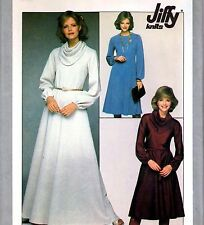 """EASY Vintage 70s DRESS Sewing Pattern UNCUT Bust 38"""" Size 14 EVENING Maxi RETRO"""