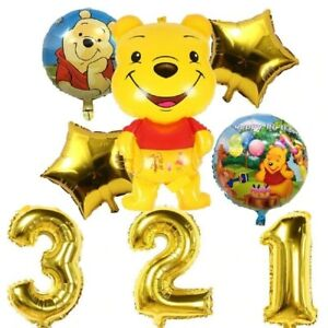 Winnie The Pooh Tigger Piglet Number Age Birthday Party Helium Balloons