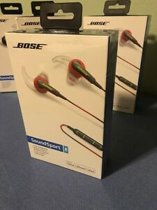 Bose SoundSport Wired In-Ear Headphones For IOS/Apple -Red