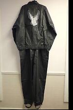 Harley-Davidson Men's Slick Black Rainwear Jacket and Pants 2-pc Set 98362-94V