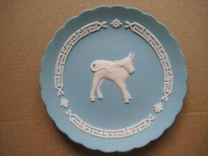 Wedgwood Jasperware Turquoise Ox 2009 Year Dish