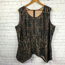 Lane Bryant Women's Plus Size Blouse Geometric Print Sleeveless Size 26/28