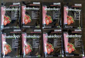 Exp 7/2021* (8) Packets Shakeology Strawberry Protein Powder Beachbody 🍓