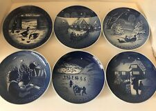 Lot Of 6 Vintage Royal Copenhagen Christmas Plates Flow Blue 1969 To 1972