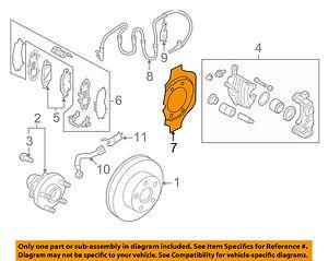 Infiniti NISSAN OEM Q50 Front Brake-Backing Plate Dust Splash Shield 411511EX1A