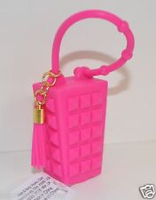 BATH & BODY WORKS PINK STUDDED STUDS TASSEL POCKET  BAC HOLDER SLEEVE SANITIZER
