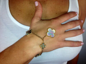 Hand Crafted Mother of Pearl Bracelet.