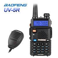 BaoFeng UV-5R + Lautsprecher 2M/70CM Amateur-funk Hand-funkgerät Walkie-Talkie