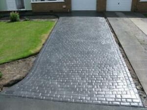 Charcoal grey Imprinted concrete colour driveway paint pattern imprint 20 litre