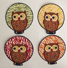 New for Fall! Autumn Owls - Iron On Fabric Appliques -