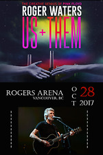 "ROGER WATERS ""US + THEM TOUR"" 2017 VANCOUVER CONCERT POSTER - Pink Floyd Genius"
