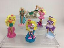 """Vintage 1990's (6 Pc) LOT Mattel/ McDonald's Barbie Toy 4"""" Doll Figures (L2)"""