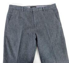 Banana Republic 36x30 Kentfield Pants Casual Gray Flat Front + Cuff 100% Cotton
