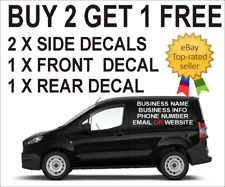 SMALL CUSTOM - VAN - VEHICLE GRAPHICS SIGN STICKERS WRITING KIT LETTERING DECALS