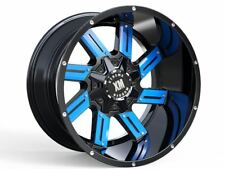 20x10 Xtreme Mudder XM 319 Wheels Blue Offroad Rims Fit 5 lug Jeep Wrangler