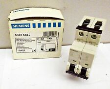New Siemens Mini Circuit Breaker Part-5SY8532-7 30KA 30036ELS