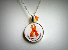 Multiple Sclerosis MS Cabochon Necklace silver awareness day encephalomyelitis