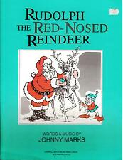 RUDOLPH THE RED-NOSED REINDEER, single music sheet by Johnny Marks