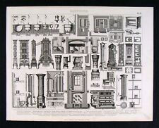 1874 Architecture Print Gas Coal Heater Furnace Types