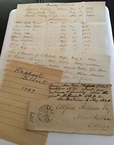 1864-70 Handwritten Letter Envelope Raphael Gilbert Brooklyn NY Postmark 1864