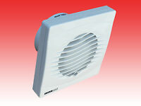 """4"""" 100mm TOILET BATHROOM EXTRACTOR FAN HUMIDITY TIMER MODEL by MANROSE INTERVENT"""