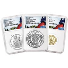 2019 PROOF American Legion 100th Ann. 3pc. defina NGC PF70UC FDI Bandera Etiqueta