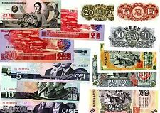 LOT SET SERIE 12 BILLETS KOREA Coree 1947  - 2002  WON UNC NEUF