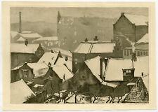 Original Print-LANDSCAPE-CITY-SNOW-Bolding-ca. 1925