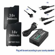 2 Battery For SONY Lite PSP 2th PSP-2000 PSP-3000 PSP-3004 PSP-S110 & AC Adapter